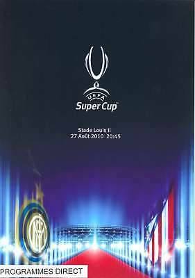 SUPER CUP 2010 PROGRAMME ATLETICO MADRID v INTER MILAN