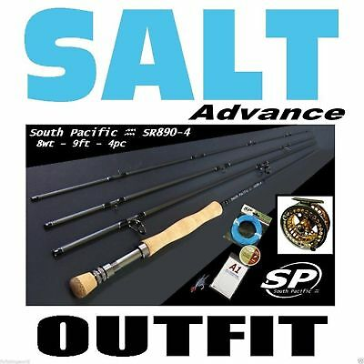 FLY FISHING SALT COMBO OUTFIT rod reel line backing leader