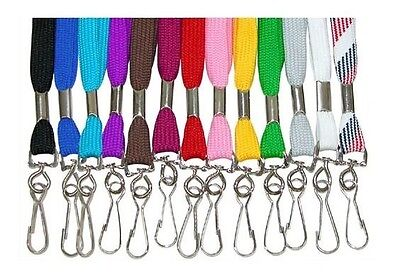 LOT 50 Flat Cotton Blend NECK Lanyards~STRAP w/ swivel hook for IDs/Keys/etc