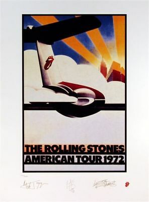Rolling Stones 1972 N America Plate Signed Litho #2720
