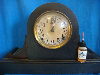 Liquid Bearings, THE BEST 100%-synthetic oil for Ansonia clocks, PLEASE READ!