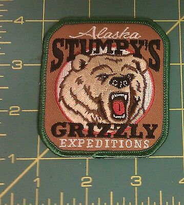 Alaska Stumpys Grizzly Expeditions Embroidered Patch - Ships worldwide!