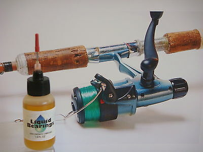 Liquid Bearings, SUPERIOR 100%-synthetic oil for all saltwater spinning reels