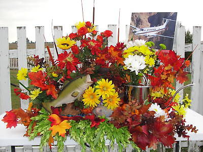 Fathers Day Fishing Grave Silk Cemetery Arrangement Thanksgiving Husband Dad
