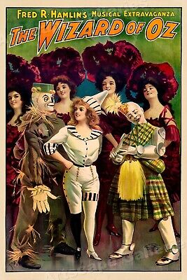 """1903 """"The Wizard of Oz"""" Vintage Style Musical Theater Poster - 24x36"""