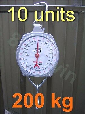 10 Units Quality Hanging Metal Scales 200kg TN