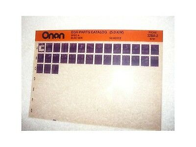 Onan EGH Spec A 5.0 KW Genset Parts Manual Microfiche