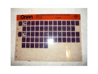 Onan EGH Spec A-B Electr Genset Parts Manual Microfiche