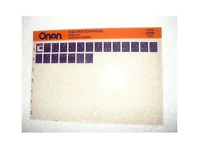Onan EGS Spec A-B Port Genset Parts Manual Microfiche