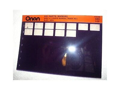 Onan KQ Spec A Electric Genset Parts Manual Microfiche