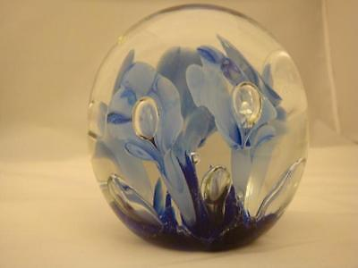 St. Clair Art Glass Paperweight Cobalt 3 1/2 in. WOW