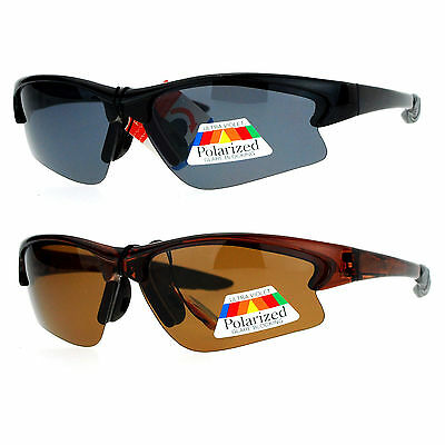 Mens Polarized Half Rim Sunglasses Anti Glare for Fishing Running Outdoor Sports