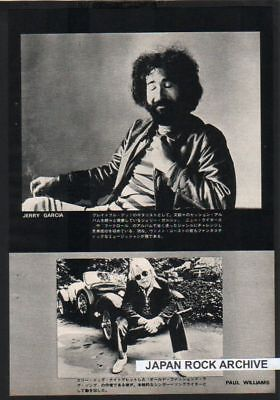 1972 JERRY GARCIA PAUL WILLIAMS JAPAN mag PHOTO PINUP