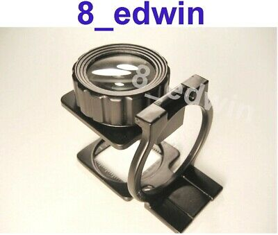 Large Lens 10x Mag Professional Heavy Steel Foldable Loupe Sale !