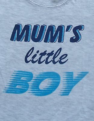 Fun Boys Tshirt Top - MUM'S LITTLE BOY -  size 0 - 6