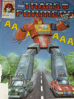 The TRANSFORMERS Comic - No 139 - Date 14/11/1987 - Marvel Comic