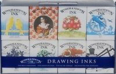 Winsor & Newton Drawing Ink Set of 8 - Henry