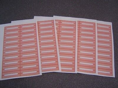 100 Blank Burnt Orange Juke Box Labels Jukebox  FREE S&H