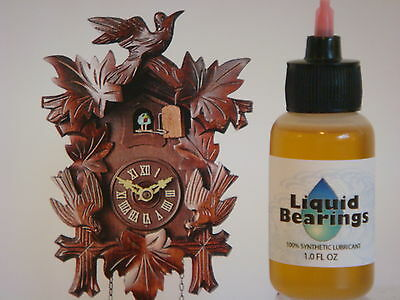 Liquid Bearings, BEST 100%-synthetic oil for antique Ansonia clocks, READ !!!