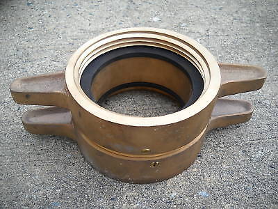 """Watec 5"""" Brass Fire Hose Coupling Mil-C-52404 New"""