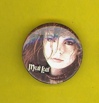 Meat Loaf 1970's pinback button badge ee