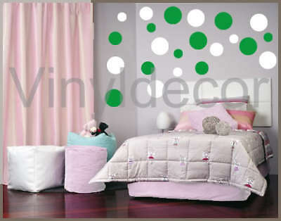mural wallie vinyl wall Sticker 216 POLKA DOT circle wg