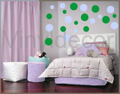 circles 216 Polka dot Vinyl wall art sticker decal  pbg