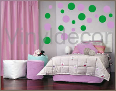 Vinyl wall art 216 Polka dots circles sticker decal Lig
