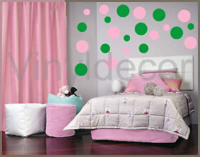 216 POLKA DOTS NURSERY VINYL WALL STICKERS CIRCLES CpG