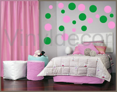 216 POLKA DOTS CIRCLE DECAL VINYL WALL STICKER DECOR Sg