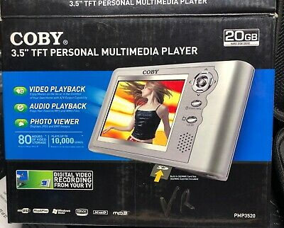 Coby Pmp3520 Pmp-3520 Portable Audio Video Nv/Thermal Recorder+Av Rca Input 20Gb