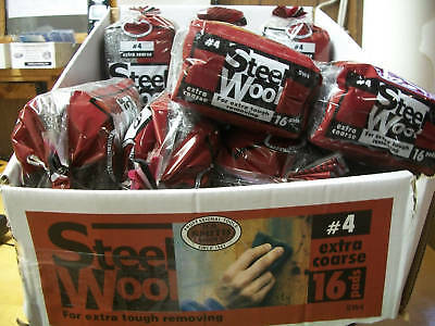 Steel Wool - Ext, Ext Coarse #4 -1 Case of 15 packages of 16 Pads = 240 PADS