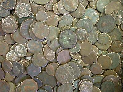 100 Lot Ancient Copper Coins Assorted Types All Genuine