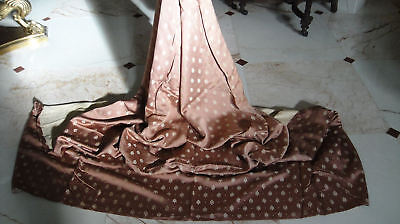 French Antique Silk Upholstery Projects Drape Curtain Doll Clothing #1