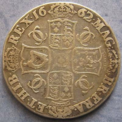 1662 Charles II Crown, edge dated , F. ESC 17.
