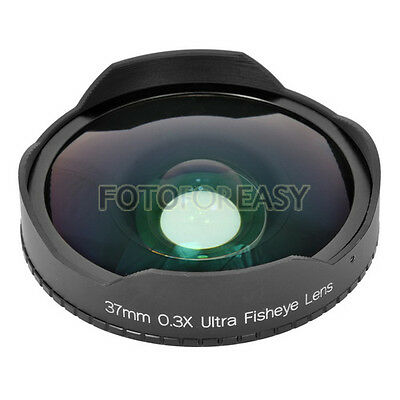 37mm 0.3x Baby Death Fisheye Lens for Video Camcorder