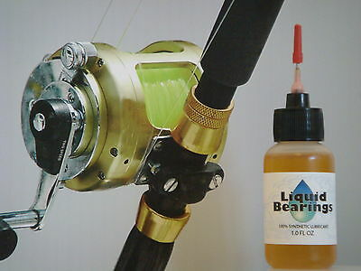 Liquid Bearings, BEST 100%-synthetic oil for Big Game or any reels, PLEASE READ!