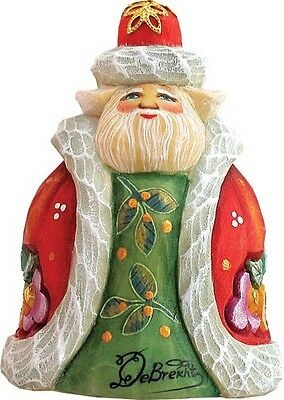 G DeBrekht Derevo Jolly Santa Ornament 623221