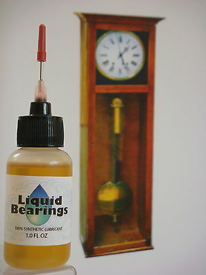 Liquid Bearings, TOP QUALITY 100%-synthetic oil for vintage clocks, PLEASE READ!