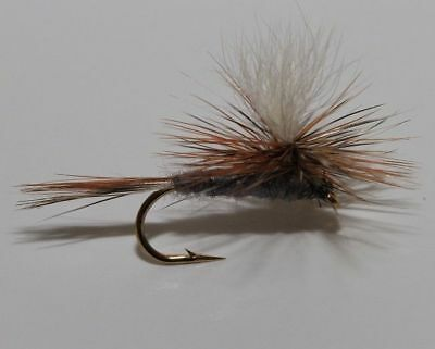 12 x Adams Parachute #12 TROUT FLIES for fishing rods