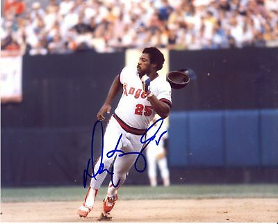 DON BAYLOR CALIFORNIA ANGELS SIGNED 8X10 PHOTO W/COA