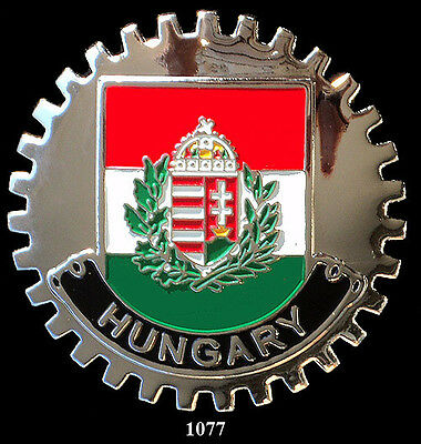 CAR  GRILLE  BADGES - HUNGARY(FLAG)