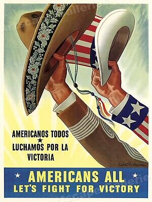 Fight For Victory Classic Mexican WW2 Poster - 17x24