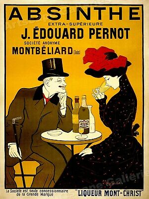 1905 Absinthe Table Vintage Alcohol Advertising Poster - 18x24