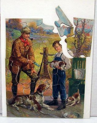 1900s Vermont Maid Syrup Jigsaw Puzzle w Envelope
