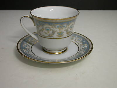 Noritake Polonaise Footed Cup & Saucer Gold Trim TM