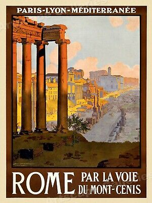 1920s Roman Forum at Dawn Vintage Style Italian Travel Poster - 18x24