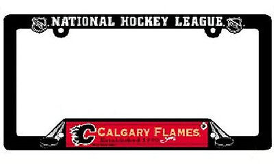 NHL® Calgary Flames Plastic License Plate Holder - SUPPORT YOUR TEAM