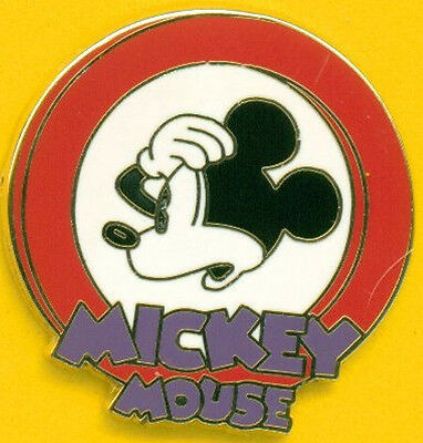 OH MICKEY RED Pie Eyed Mystery Pouch Disney Trading Pin
