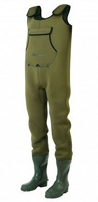Daiwa NEW Neoprene Green Fishing Chest Waders *All Sizes*